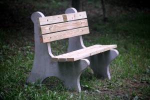 Bench donated by dog park friends of  Debby Merker in her memory